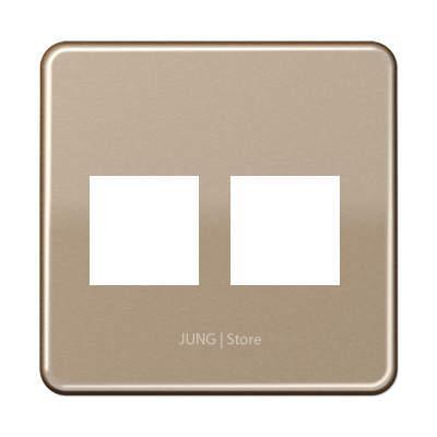 CD500 Накладка для комп. розетки 2хRJ45, бронз.