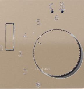 CD500 Накладка для мех-зма терморегулятора пола с выкл. FTR 231 U, бронз.
