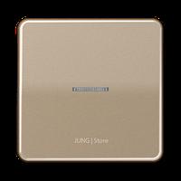 CD500 Клавиша 1-ная с линзой, бронз.