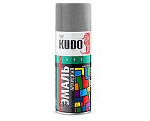 KUDO-1017 Эмаль унив. светло-серая 520 мл