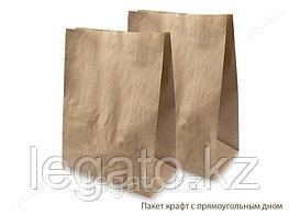 Пакет с пр. дном б/п 120*80*250 крафт 500шт/кор
