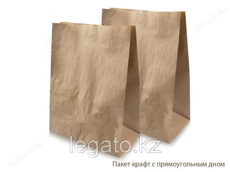 Пакет с пр. дном б/п 320*200*340 крафт 500шт/кор