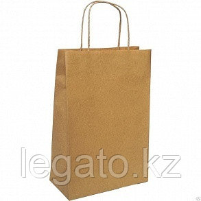 Пакет с кручеными ручками б/п 220*120*250 крафт 250шт/кор