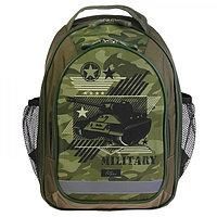 Рюкзак школьный с эргономичной спинкой, Calligrata, 37 х 27 х 16, «Танк», зелёный