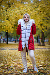 Меховая зимняя парка с капюшоном, фото 3