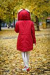 Женская зимняя парка с мехом рыжей лисы, фото 3