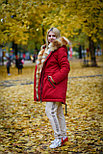 Красная зимняя парка с лисой, размер 48 - L, фото 3