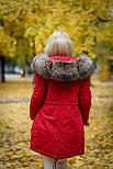 Зимняя женская парка с мехом енота, фото 2