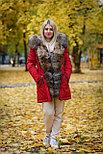 Зимняя женская парка с мехом енота, фото 3