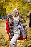 Зимняя женская парка с мехом енота, фото 4
