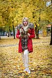 Зимняя женская парка с мехом енота, фото 6