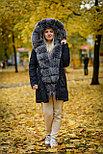 Зимняя женская парка с мехом натурального песца, фото 2