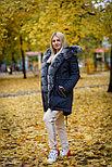 Зимняя женская парка с мехом натурального песца, фото 3