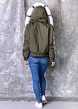 Демисезонная куртка ХАКИ с мехом песца, фото 2