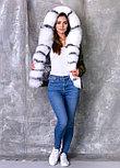 Демисезонная куртка ХАКИ с мехом песца, фото 3