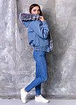 Женская стильная парка с мехом чернобурки, фото 4