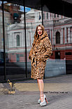 Леопардовая шуба | натуральный мех, фото 2