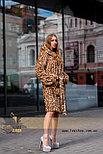 Леопардовая шуба | натуральный мех, фото 4