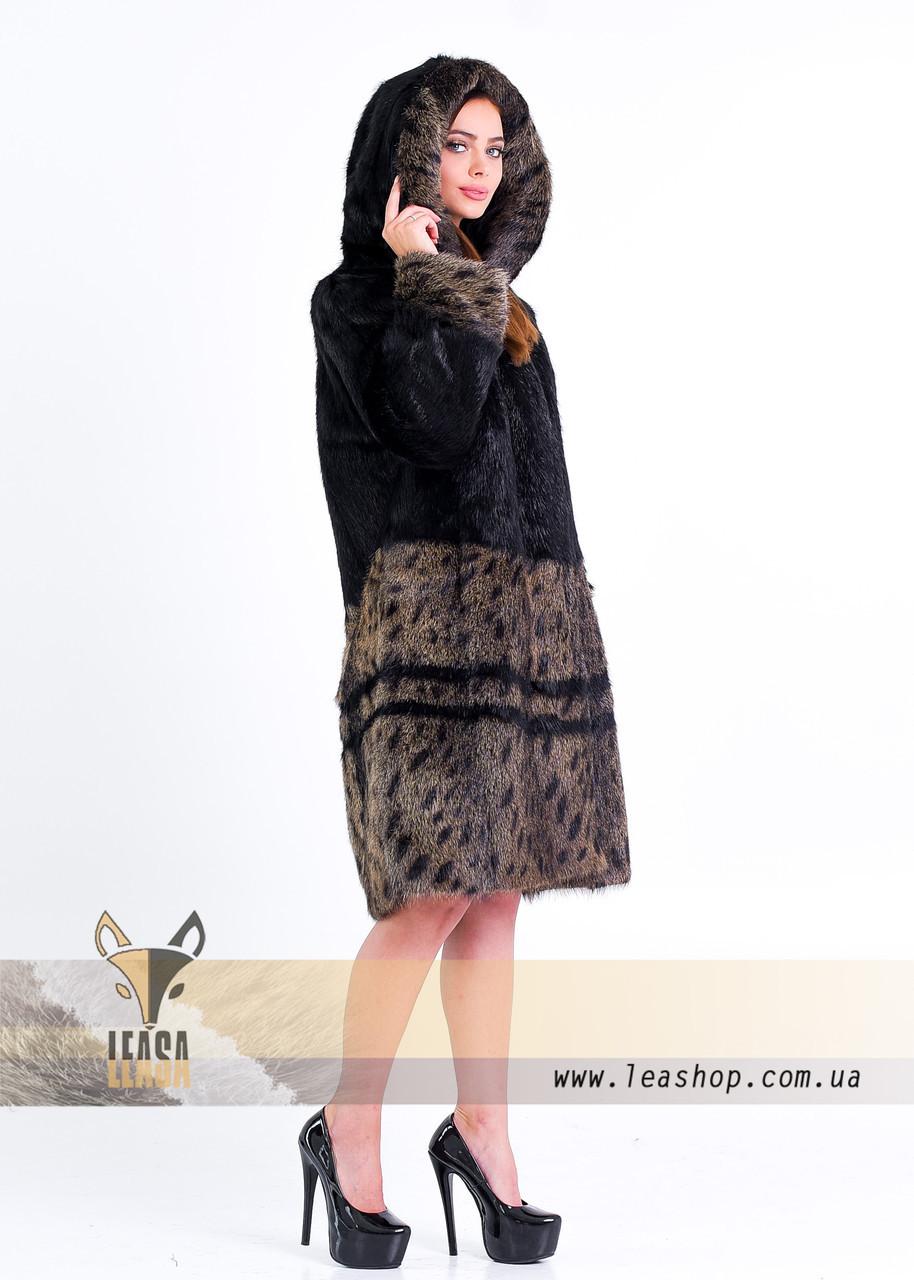 Шуба - рысь из натурального меха - фото 1