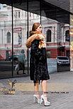 Шуба из нутрии с капюшоном из меха лисы, фото 4
