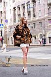 Леопардовый полушубок - натуральный мех, фото 4