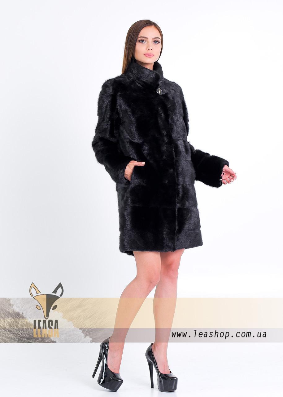 Норковая шуба черного цвета, ТРАНСФОРМЕР - фото 2