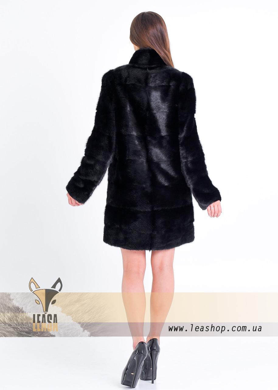 Норковая шуба черного цвета, ТРАНСФОРМЕР - фото 4
