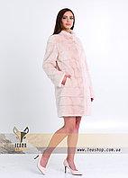 Шуба из норки нежного персикового цвета, ТРАНСФОРМЕР 90-70