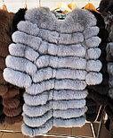 Женская шуба из пепельного песца | купить онлайн в ЛЕАШОП, фото 3