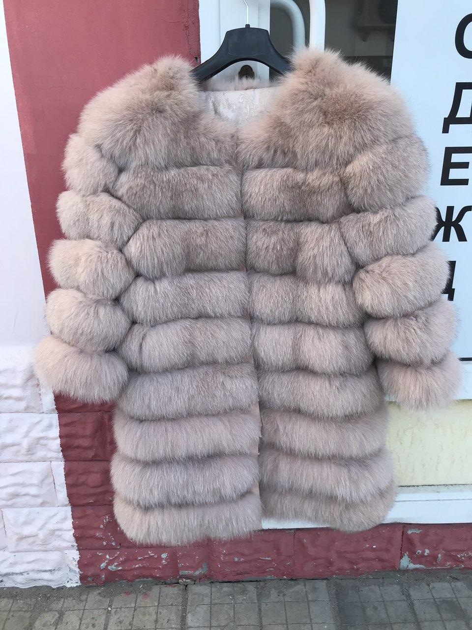 Женская шуба из пепельного песца | купить онлайн в ЛЕАШОП - фото 5