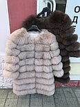 Женская шуба из пепельного песца | купить онлайн в ЛЕАШОП, фото 6