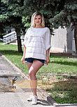 Меховой свитер из натуральной норки белого цвета, оттенок жемчуг, фото 3