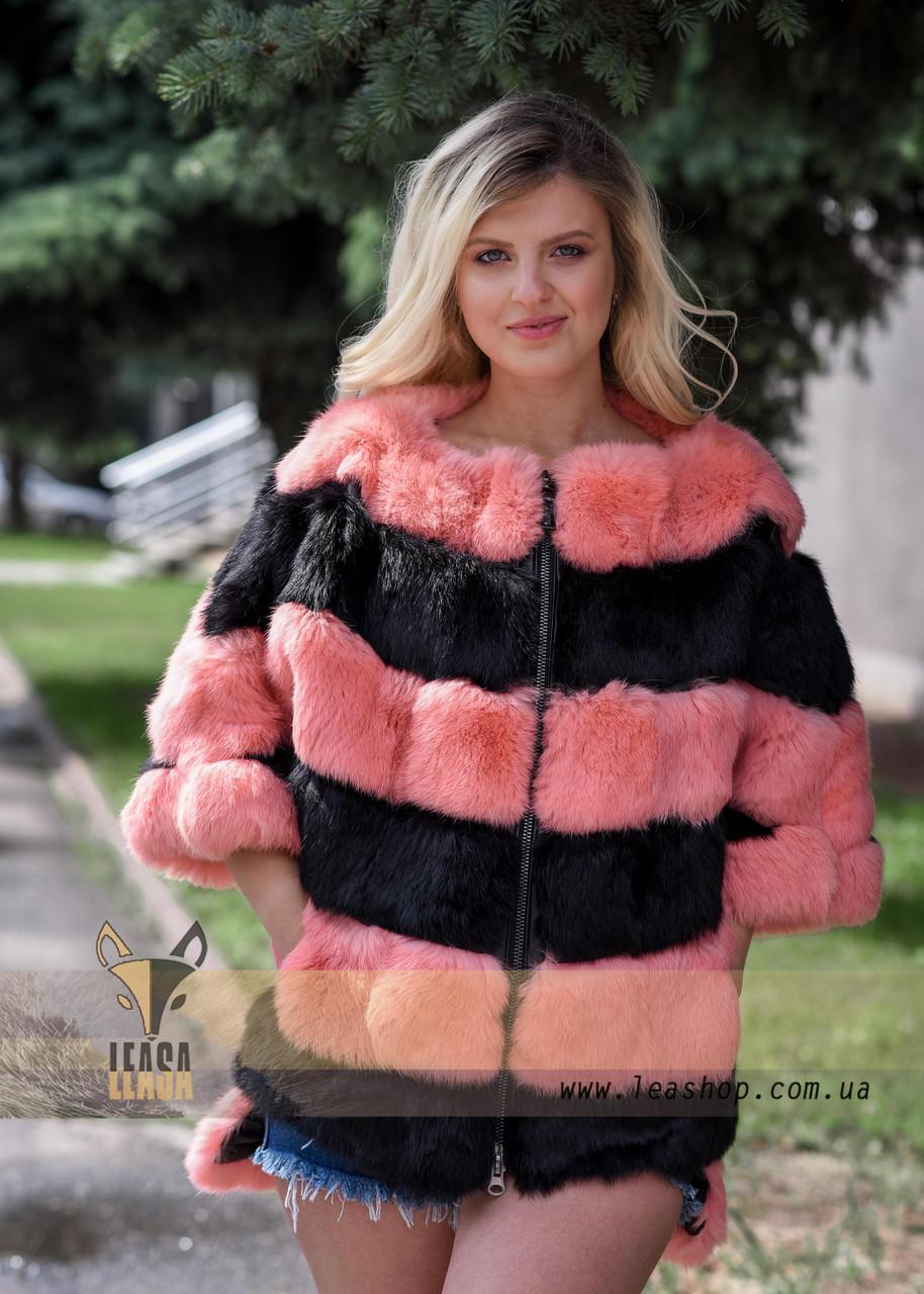 Женский меховой бомбер - свитер - фото 1