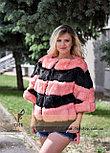 Женский меховой бомбер - свитер, фото 2