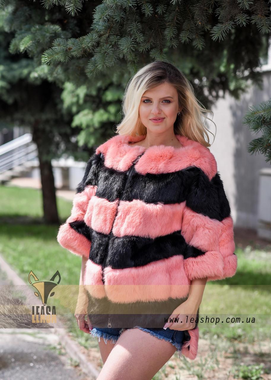 Женский меховой бомбер - свитер - фото 2