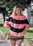 Женский меховой бомбер - свитер, фото 4