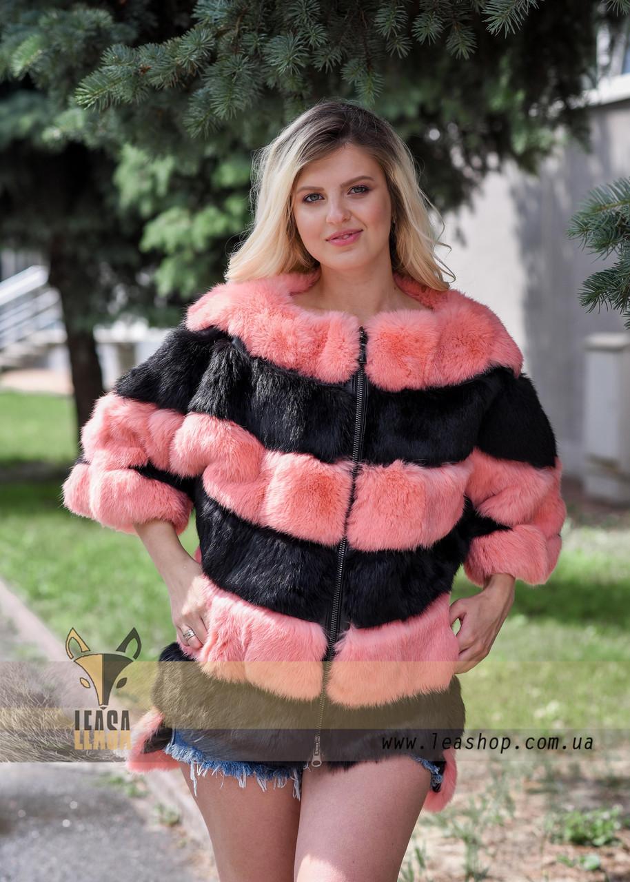 Женский меховой бомбер - свитер - фото 4