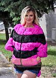 Яркий меховой бомбер для стильных Украинских девушек, фото 2