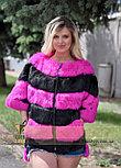 Яркий меховой бомбер для стильных Украинских девушек, фото 3