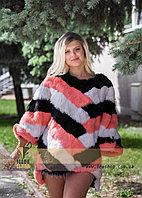 Яркий меховой свитер, стильная женская меховая одежда LEAshop