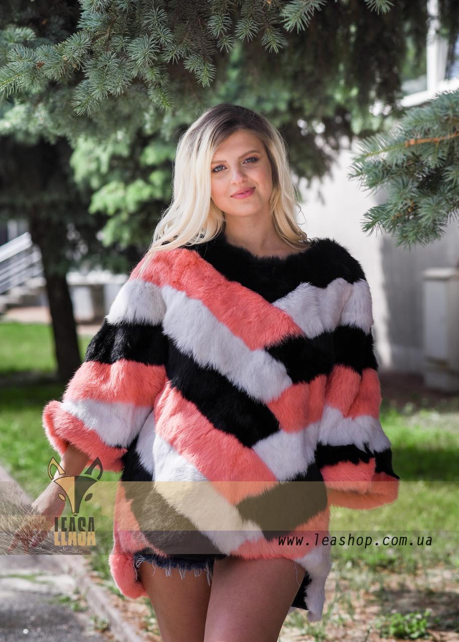 Яркий меховой свитер, стильная женская меховая одежда LEAshop - фото 1