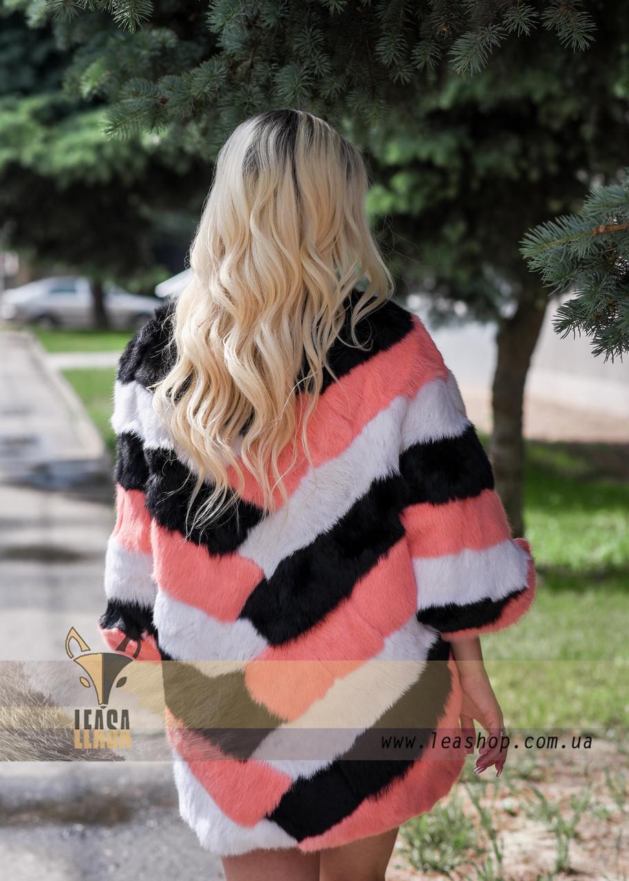 Яркий меховой свитер, стильная женская меховая одежда LEAshop - фото 2