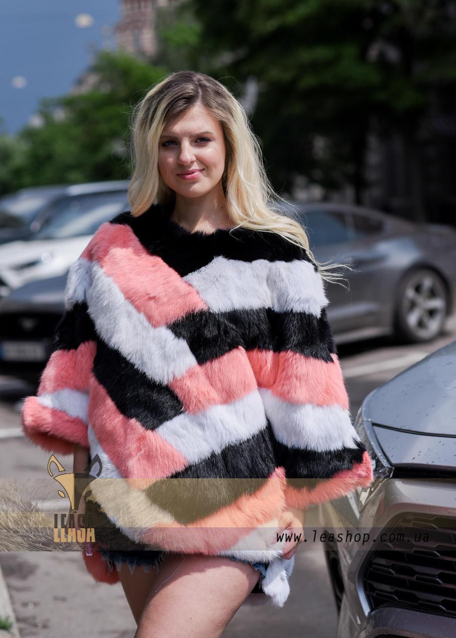 Яркий меховой свитер, стильная женская меховая одежда LEAshop - фото 3