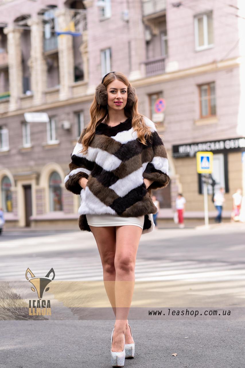 Женский полушубок, меховой свитер для модниц - фото 1