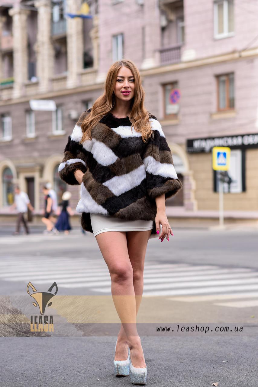 Женский полушубок, меховой свитер для модниц - фото 2