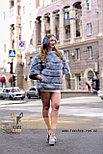Голубая женская шубка, демисезонный вариант, фото 3