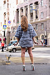 Голубая женская шубка, демисезонный вариант, фото 4