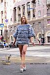 Голубая женская шубка, демисезонный вариант, фото 5