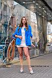 Яркий молодежный полушубок - меховой свитер на змейке, фото 3
