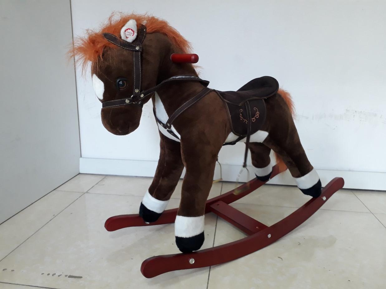 Музыкальная лошадка-качалка для детей. Отличный подарок